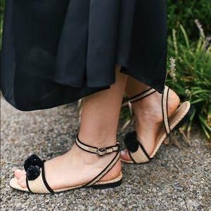 Ann Taylor Adley Pom Pom Sandals